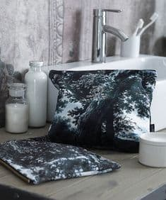 Boho&Co Trees Two Multi  velvet washbag